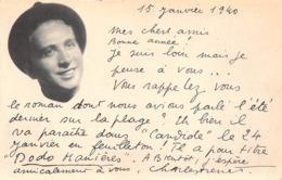 AUTOGRAPHE DE CHARLES TRENET - AUTEUR, COMPOSITEUR, INTERPRETRE, FORMAT CARTE POSTAL ANCIENNE - Autographes