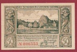 Allemagne 1 Notgeld  De 50 Pfenning Stadt  Lötzenmasuren  (RARE )   Dans L 'état N° 4929 - [ 3] 1918-1933 : República De Weimar