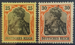 DEUTSCHES REICH 1902 - MNG/MLH - Mi 73, 74 - Germania 25pf 30pf - Unused Stamps