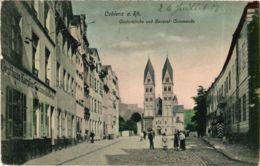 CPA AK Koblenz- Castorkirche U. General Commando GERMANY (903560) - Koblenz