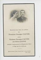 Georges Cauvin, Hélène Cauvin Née Jeanne Décédés Le 5 Septembre 1944 (bombardements Alliés) Prière à Saint Jean Le Havre - Otros