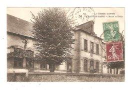 CPA 19 LAMAZIERE  ( Environs Egletons) Mairie Et Ecoles 1927  Vue Peu Commune - Egletons