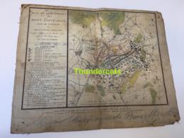 PLAN +/- 1815  DE LA BATAILLE DE MONT SAINT JEAN DITE DE WATERLOO TARDIEU GOUJON MARTINET PICQUET GRAVEUR - Cartes Topographiques
