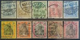 DEUTSCHES REICH 1900 - Canceled - Mi 53, 54, 55, 56, 57, 58, 59, 60, 61, 62 - Germania / Reichspost - Complete Set! - Gebruikt