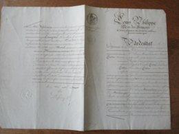 10 JANVIER 1831 BAIL PAR M.PIERRE MARIE CONSTAND LOUIS PIETTRE A CAMBRAI A CATHERINE BEAUVILLAIN FERMIERE FAUBOURG SAINT - Manuskripte