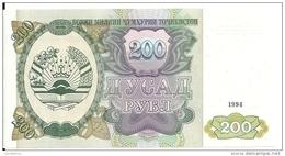 TADJIKISTAN 200 ROUBLES 1994 UNC P 7 - Tadzjikistan