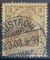 DEUTSCHES REICH 1902 - Nice GÜSTROW Cancel! - Mi 69 - 3pf - Gebruikt