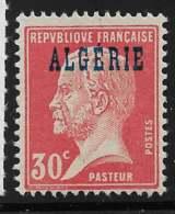 Yvert 15 Maury 15 - 30 C Pasteur Rouge - (*) - Algérie (1924-1962)