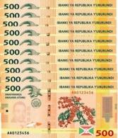 BURUNDI 500 FRANCS 2015 P-50a UNC 10 PCS [BI236a] - Burundi