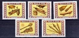 Wallis Et Futuna  198/202 Artisanat Gomme Tropicale Neuf ** MNH Sin Charmela - Nuovi