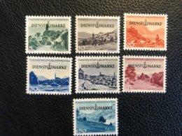 FL Dienstmarken Zumstein-Nr. 29-35 * Ungebraucht Und ** Postfrisch - Kompletter Satz - Official