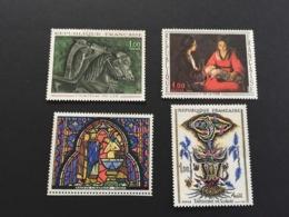 France 1966 Tableaux 1478-1479 Et 1492-1493 Neuf - France