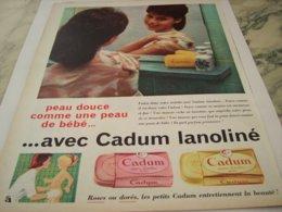 ANCIENNE PUBLICITE SAVON CADUM ROSE OU DORE 1959 - Parfum & Cosmetica