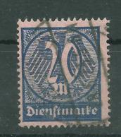 Deutsches Reich Dienst 72 Gest., Geprüft Infla - Officials