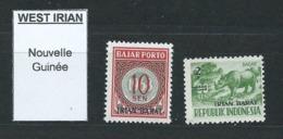 3222 Lot De 2 Timbres West Irian Bajar Porto Irian Barat Nouvelle Guinée New Guinéa - Papouasie-Nouvelle-Guinée