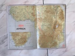 Carte  Vols SABENA AFRICA - Cartes