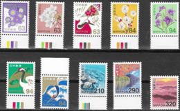 JAPAN, 2019, MNH, BIRDS, FLOWERS, CORALS, MOUNTAINS, 10v - Birds