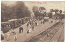 Bergen Tram Naar/to Alkmaar Tramway Strassenbahn Station Bahnhof Tramstation Dampf Stoomtram Bello 1910-20's - Pays-Bas