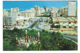United Arab Emirates - U.A.E. - Abu Dhabi - Aerial View Of Sheikh Khalifa Street With Mosque Mosquee - Old View - Ver. Arab. Emirate