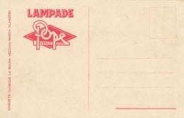 """9591-CARTOLINA PUBBLICITARIA DITTA LAMPADE """"POPE""""-MARCA OLANDESE-1926-FP - Pubblicitari"""