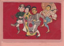 OLD POSTCARD  1900'S - MILITARY - RUSSIA - COREA - JAPAN - CHINA - Humorísticas