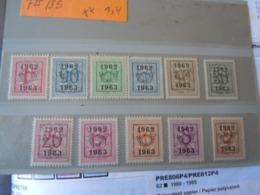Préo     **  1962/63 - Préoblitérés