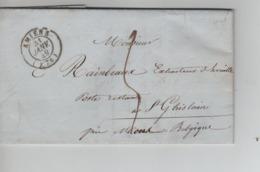 PR7540/ Précurseur LAC C.Amiens 31/Janvier/1849 Port 5 > Poste Restante St.Ghislain Près De Mons C.d'arrivée Et De Passa - 1801-1848: Precursores XIX