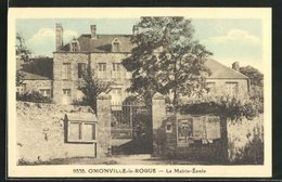 CPA Omonville-la-Rogue, La Mairie-Ecole - Non Classés