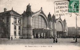 CARTE POSTALE TOURS -OBLITERATION DAGUIN - GRANDE SEMAINE DE TOURS -10-18-MAI 1924 - 1921-1960: Modern Tijdperk