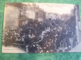 TRÈS RARE - LA CRECHE - LA GRANDE-RUE , COTE NORD - CAVALCADE DU 13 AVRIL 1914 - Sonstige Gemeinden