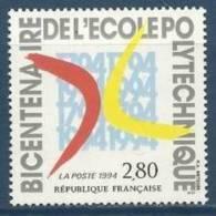 """FR YT 2862 """" Ecole Polytechnique """" 1994 Neuf** - France"""