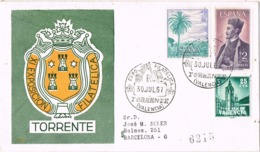 34364. Carta Certificada TORRENTE (Valencia) 1967. Exposicion Filatelica. PLAN SUR, Carteria - 1931-Hoy: 2ª República - ... Juan Carlos I