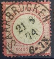 DEUTSCHES REICH 1872 - SAARBRÜCKEN Cancel - Mi 4 - Kleines Brustschild - 1gr - Usados