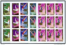 Korea 1983, SC #2270-75, Imperf F/S Of 9, Olympic Games, Overprinted - Verano 1984: Los Angeles