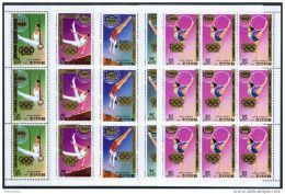Korea 1983, SC #2270-75, F/S Of 9, Olympic Games, Overprinted - Verano 1984: Los Angeles
