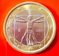 ITALIA - 2009 - Moneta - Leonardo Da Vinci, Proporzioni Ideali Del Corpo Umano - Euro - 1.00 - Italia