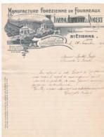 384856Manufacture Forezienne De Fourneaux DAPZOL, LAPIERRE & ROBERT LETTRE 26-11-1917 - Frankrijk