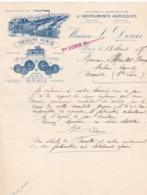 384863L. DENIS, Ateliers De Construction D'Instruments Agricoles, Lettre 18-04-1917 - France