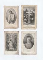 Image Religieuse - Lot De 4 Canivet Fin XIX - Jésus - Scan R/V - Devotion Images