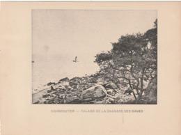 NOIRMOUTIER -Falaise De La Chambre Des Dames - Photogravure Fin 19 ème De Jules Robuchon   17.3x13 - Documents Historiques
