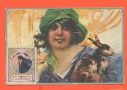 Codognato Belle Epoque Cpa Viaggiata 7/1918 Con Coniglio + Erinnofilo Croce Rossa 5 Cents Rabbit - Illustratori & Fotografie