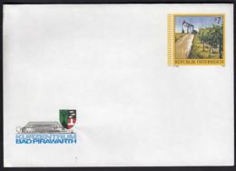 Austria 1997 / Kurzentrum Bad Pirawarth, Spa, Bath, Coat Of Arms / Oil Pump / Postal Stamped Stationary - Entiers Postaux
