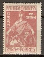 PORTUGAL   -     Télégraphes    -    1915.    Y&T N° 1 *.    Au Profit Des Pauvres. - Télégraphes