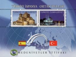 Turkey - 2010 - Civilizations Alliance - Turkey-Spain - Mint Souvenir Sheet - 1921-... Repubblica