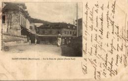 Cpa Martinique Saint St Pierre Sur Le Pont De Pierres (partie Sud) Mme Georges Evrard Photog - Autres
