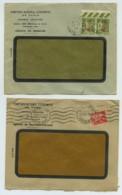 Paire Type Paix N° 480 Perforé CN En Miroir (inversé à Gauche) / Enveloppe 1941 Brioude + 1 Autre . - Perfins