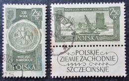 1961 Pologne Yt 1115,1116 Recovered Territories , Oblitérés - 1944-.... República