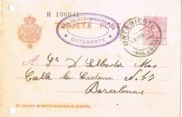 34369. Entero Postal ONTENIENTE (Valencia) 1931, Edifil Num 57 - Enteros Postales