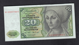 Banknote Deutsche Bundesbank 1970 / 20 DM - 20 Deutsche Mark