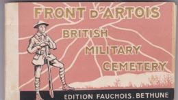 MILITARIA - LE FRONT D'ARTOIS - BRITISH MILITARY CEMETARY Album De 24 Cartes - - Guerre 1914-18